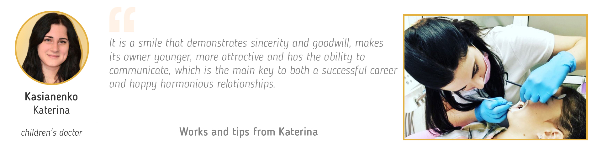 Works and tips from Katerina